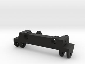 SCX10 Front Leaf Spring Combo w/ Bumper Mount in Black Natural Versatile Plastic