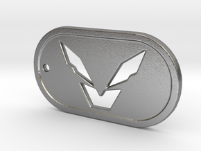 Anthem Storm Dogtag in Natural Silver