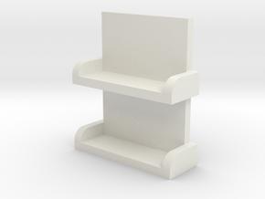NWR No 1 Series 3 Ladder (Gauge 1) in White Natural Versatile Plastic
