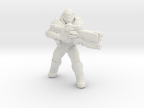 doomguy doom slayer 34mm heroic scale miniature in White Natural Versatile Plastic