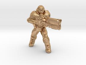 doomguy doom slayer 34mm heroic scale miniature in Natural Bronze