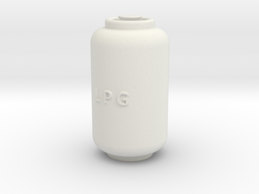 Printle Thing Propane Cylinder 02 - 1/24 in White Natural Versatile Plastic