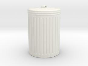 Printle Thing Trash Bin - 1/24 in White Natural Versatile Plastic