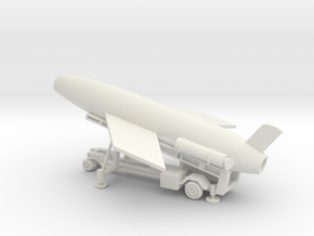 1/110  Scale MK4 Regulus Missile Launcher with Mis in White Natural Versatile Plastic