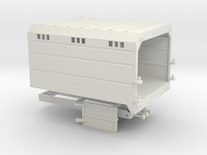 1/50th Chipper Truck Straight Dump Box Body in White Natural Versatile Plastic