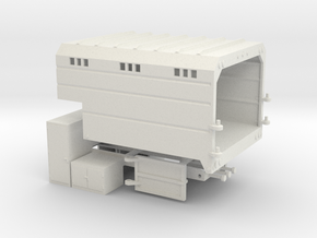 1/50th Chipper Truck L Toolbox Dump Box  in White Natural Versatile Plastic