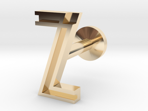 Letter Z in 14k Gold Plated Brass