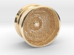 RC Car Rim 1:14 Hexagonal Grid 03 in 14k Gold Plated Brass