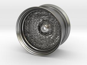 RC Car Rim 1:14 Hexagonal Grid 04 in Natural Silver