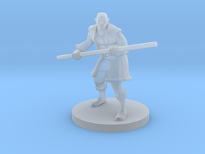 Half Elf Male Monk in Smooth Fine Detail Plastic