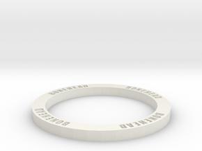 Bonehead ring marker for Fantasy Football - 30mm in White Natural Versatile Plastic