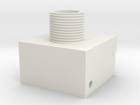 RDP Spectre Threaded Adapter in White Natural Versatile Plastic