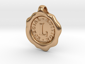 Seal Pendant L in Polished Bronze