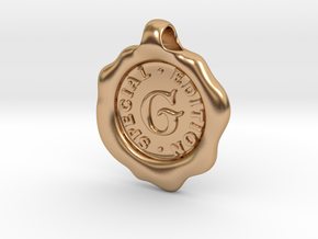 Seal Pendant G in Polished Bronze