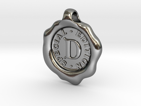 Seal Pendant D in Polished Silver