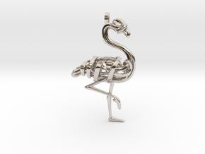 Flamingo Pendant in Platinum