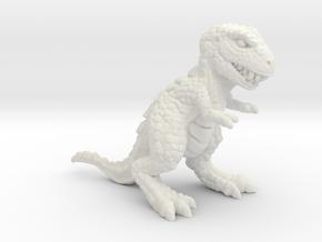 Retrosaur - Allosaurus, Plastic & Metal in White Natural Versatile Plastic: Medium