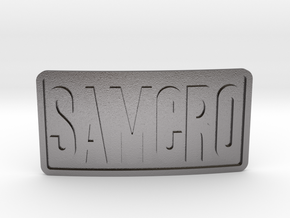 Samcro Belt Buckle in Polished Nickel Steel