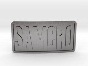 Samcro Belt Buckle in Polished Nickel Steel