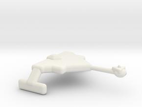 Battlecruiser Klingon type in White Natural Versatile Plastic
