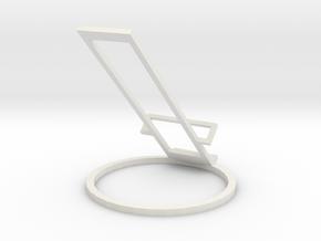 Remote Holder for Apple TV 4K in White Premium Versatile Plastic