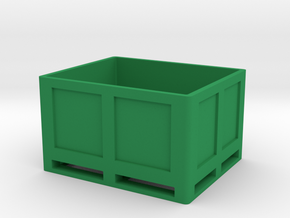 Kiste Palette Box in Green Processed Versatile Plastic
