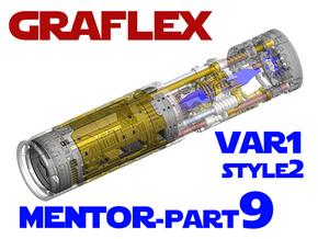 Graflex Mentor - Var1 Part09 - Main Gen Style 2  in White Natural Versatile Plastic