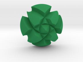 Ring Loft4 (Top) in Green Processed Versatile Plastic