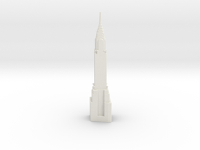 Chrysler Building - New York (6 inch) in White Natural Versatile Plastic