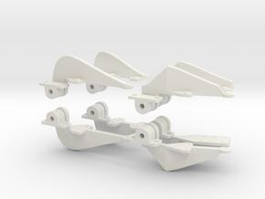 1.4 HUGHES 500 DOOR HINGES X8 in White Natural Versatile Plastic