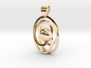 Abstract atom [pendant] in 14K Yellow Gold