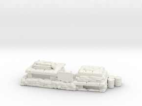 Double Firebase Bunker in White Natural Versatile Plastic