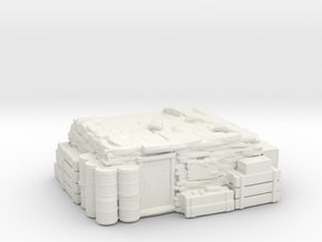 Ammunition Lock-up Bunker in White Natural Versatile Plastic