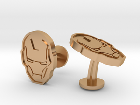 Iron Man Cufflinks in Polished Bronze