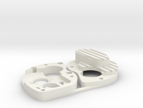 Losi 130/180 Motor Case Assembly in White Natural Versatile Plastic