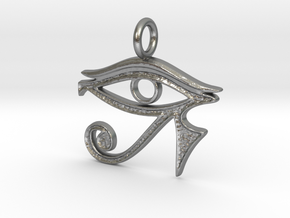 Eye of Horus  in Natural Silver
