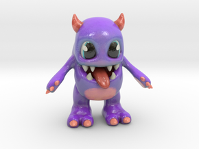 Baby Monster Colored_small in Glossy Full Color Sandstone