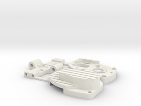 Losi 130/180 Motor Case and Base Assembly in White Natural Versatile Plastic