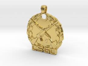 CS:GO Master Guardian Elite Pendant in Polished Brass