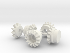 Diff-Gear-set in White Natural Versatile Plastic