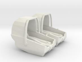 Baby Car Seat in White Natural Versatile Plastic: 1:24