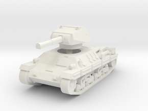 P-40 Heavy Tank 1/100 in White Natural Versatile Plastic