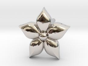 Puffed Flower Earring  in Platinum