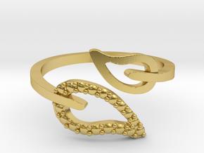 Adjustable Leaf Ring  in Polished Brass