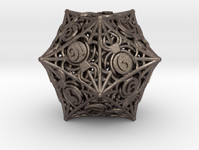 [BETA] D20 Balanced - Spiders in Polished Bronzed-Silver Steel