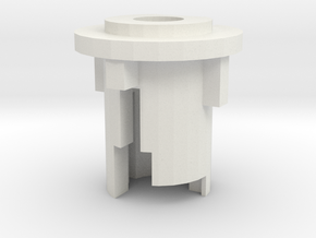 M4 Receiver Outer Barrel Stub in White Natural Versatile Plastic