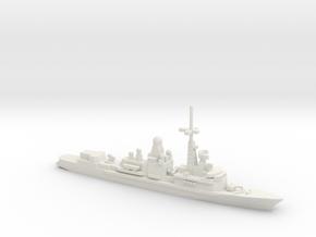 Cassard-class frigate, 1/1250 in White Natural Versatile Plastic
