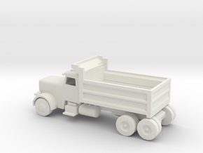 N Scale Dump Truck in White Natural Versatile Plastic