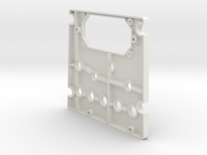 T6 Port Side Forward Switch Plate Cover in White Natural Versatile Plastic