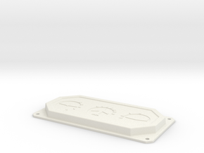T6 Trim Control Panel insert in White Natural Versatile Plastic